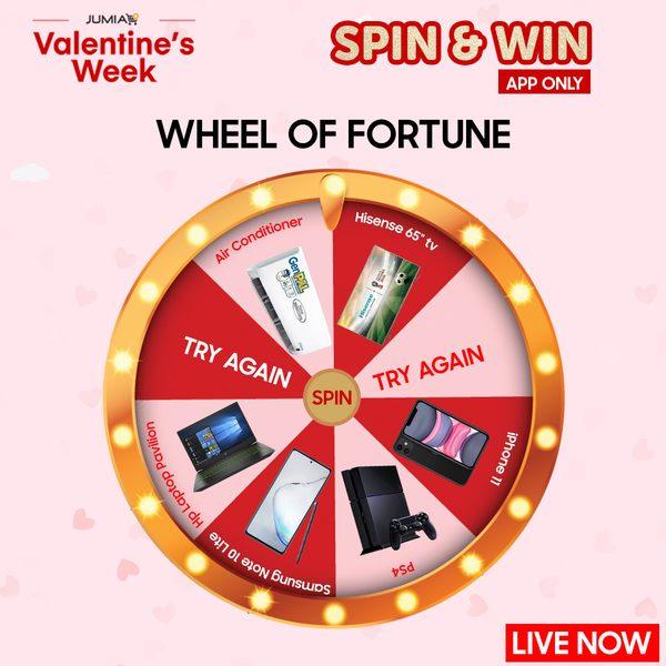 Jumia Spin the Wheel Valentine Contest !!!