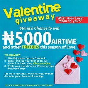 Rejuvenee Spa, N5,000 Valentine  Giveaway !!!