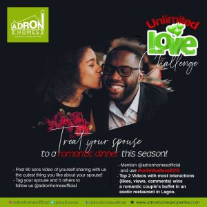 Adron Homes Unlimited Love Challenge