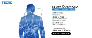 Tecno is Recruiting 100 Camon Experience Officers (CEO) as Ambassadors + Win a Camon Smart Phone.