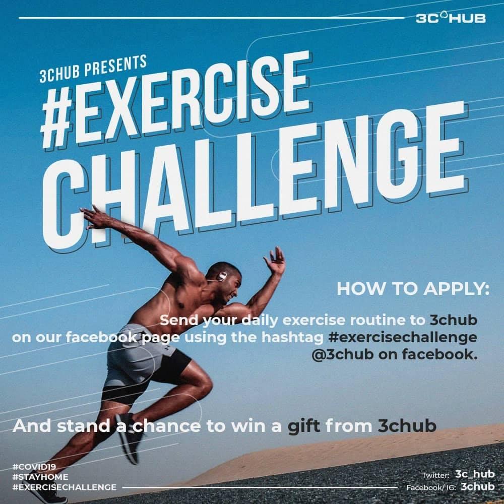 Win a gift in 3C HUB #ExerciseChallenge