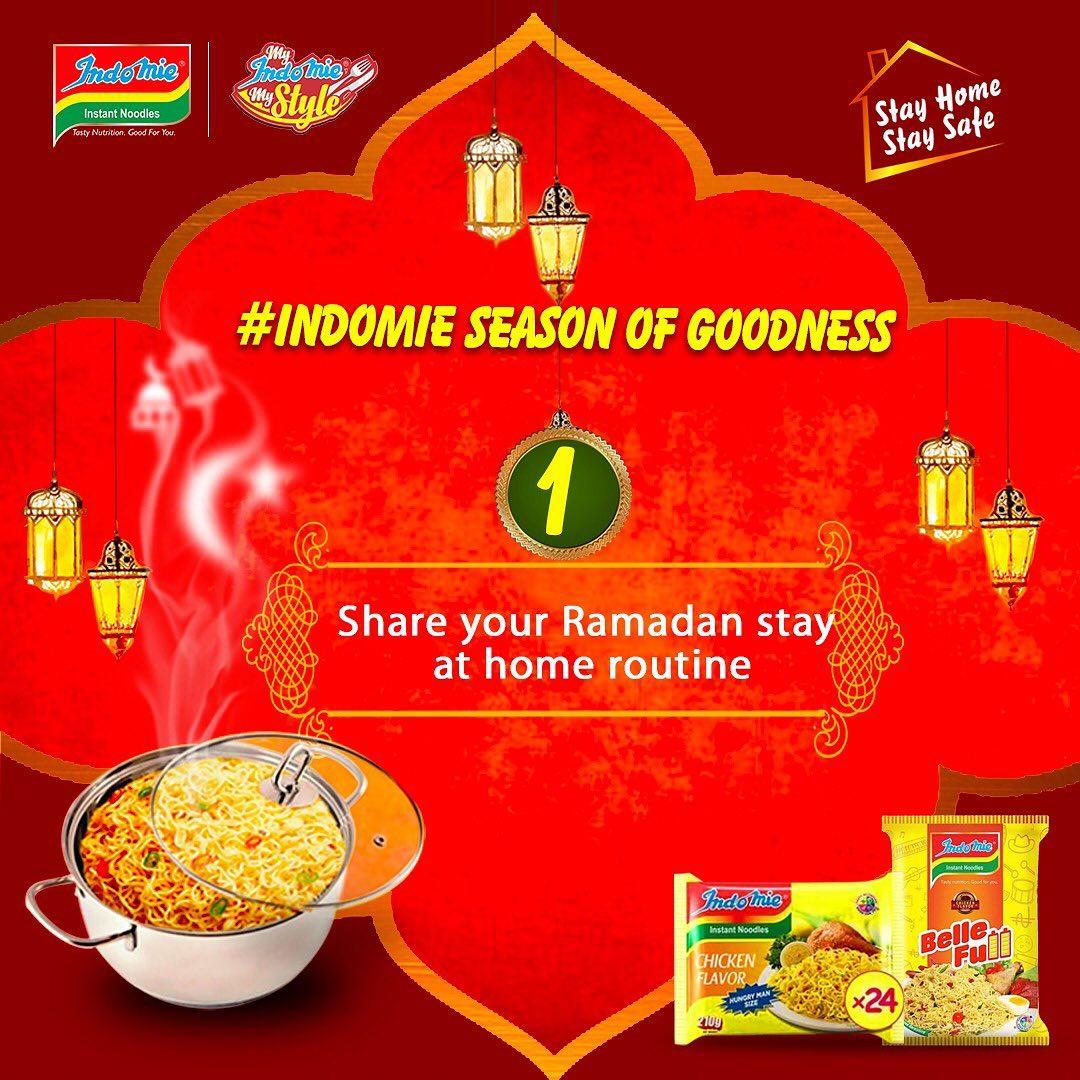 "Win Prizes in the ""Indomie Season Of Goodness"" Ramadan Giveaways."