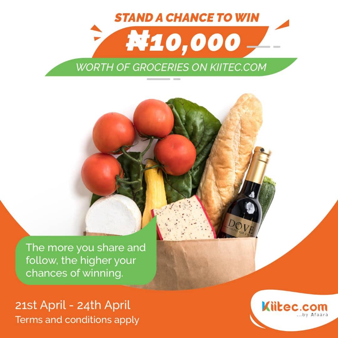 Kiitec N10,000 Grocery Giveaway !!!.