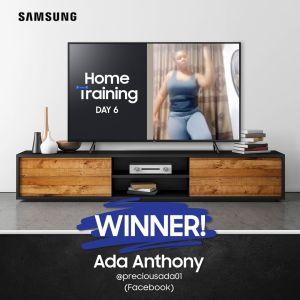 Samsung Home Training Challenge Winner of Day 6.