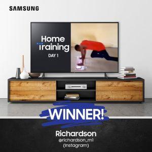 Meet the Day 1 Winner of Samsung Home Training Challenge !!!