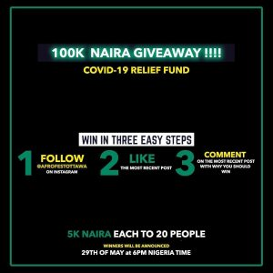 Join The Afro Fest Ottawa N100K Giveaway To Nigerians.