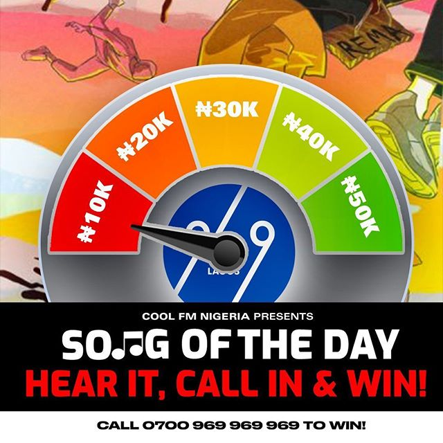Win N10,000 in CoolFM Song of the Day Challenge Today.