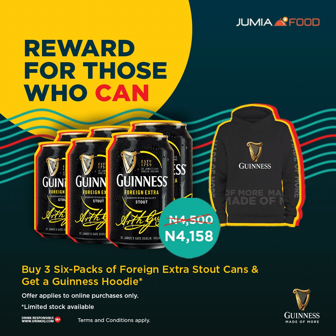 Grab a Hoodie in Guinness Nigeria promo on Jumia.