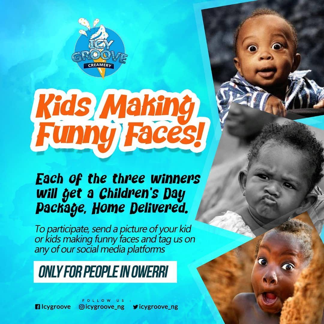 """Icygroove """"Kids Making Funny Faces"""" Children's Day Contest."""