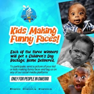 "Icygroove ""Kids Making Funny Faces"" Children's Day Contest."