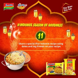 Join  Indomie Season of Goodness Challenge, and you might Win 2 Cartons of Indomie Noodles.