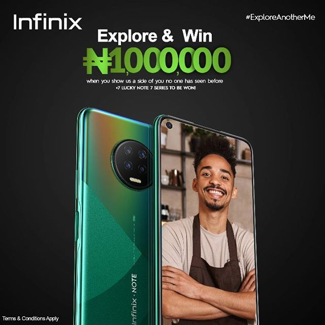 7 Lucky Fans to Win N1,000,000 in Infinix #ExploreAnotherMe Campaign.