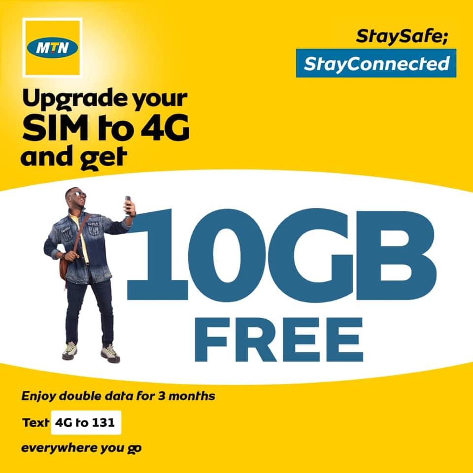 MTN NIGERIA 10GB Data FREE Giveaway.