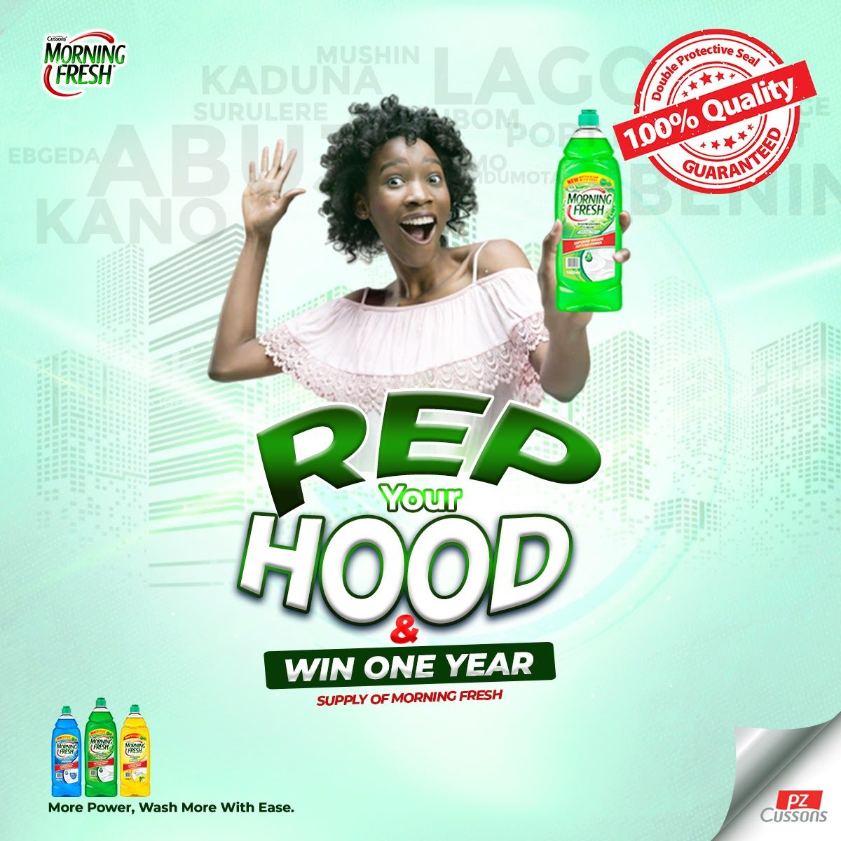 Morning Fresh Rep your Hood Challenge Continues…