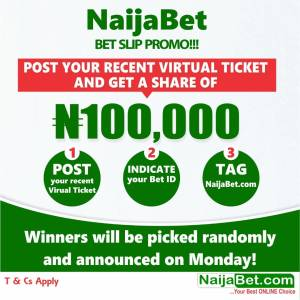 Win Your Share of NaijaBet 100k Giveaway.