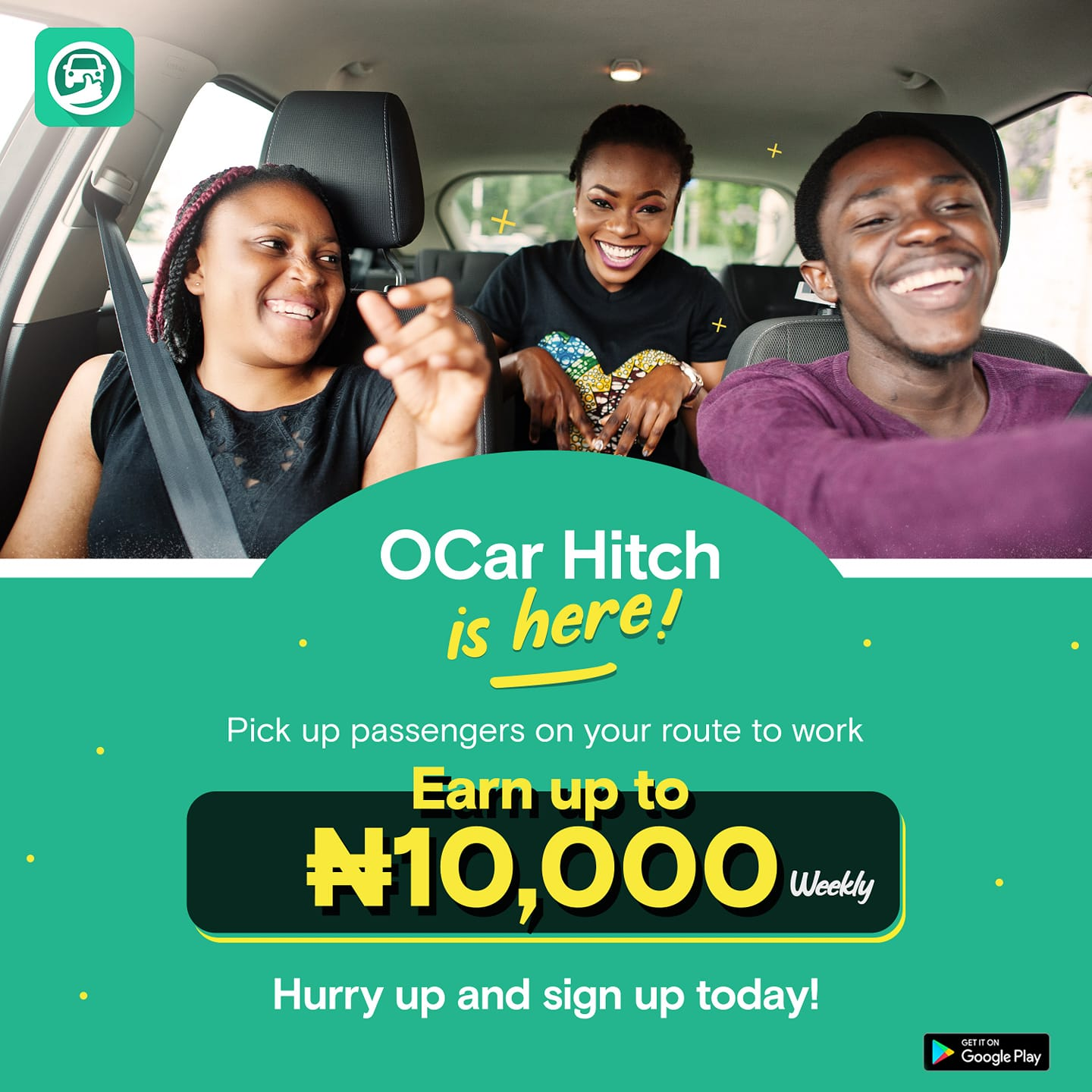 Share Your Ride to Work and Earn an Extra Income of N10,000 Weekly In Oride OCar Hitch.