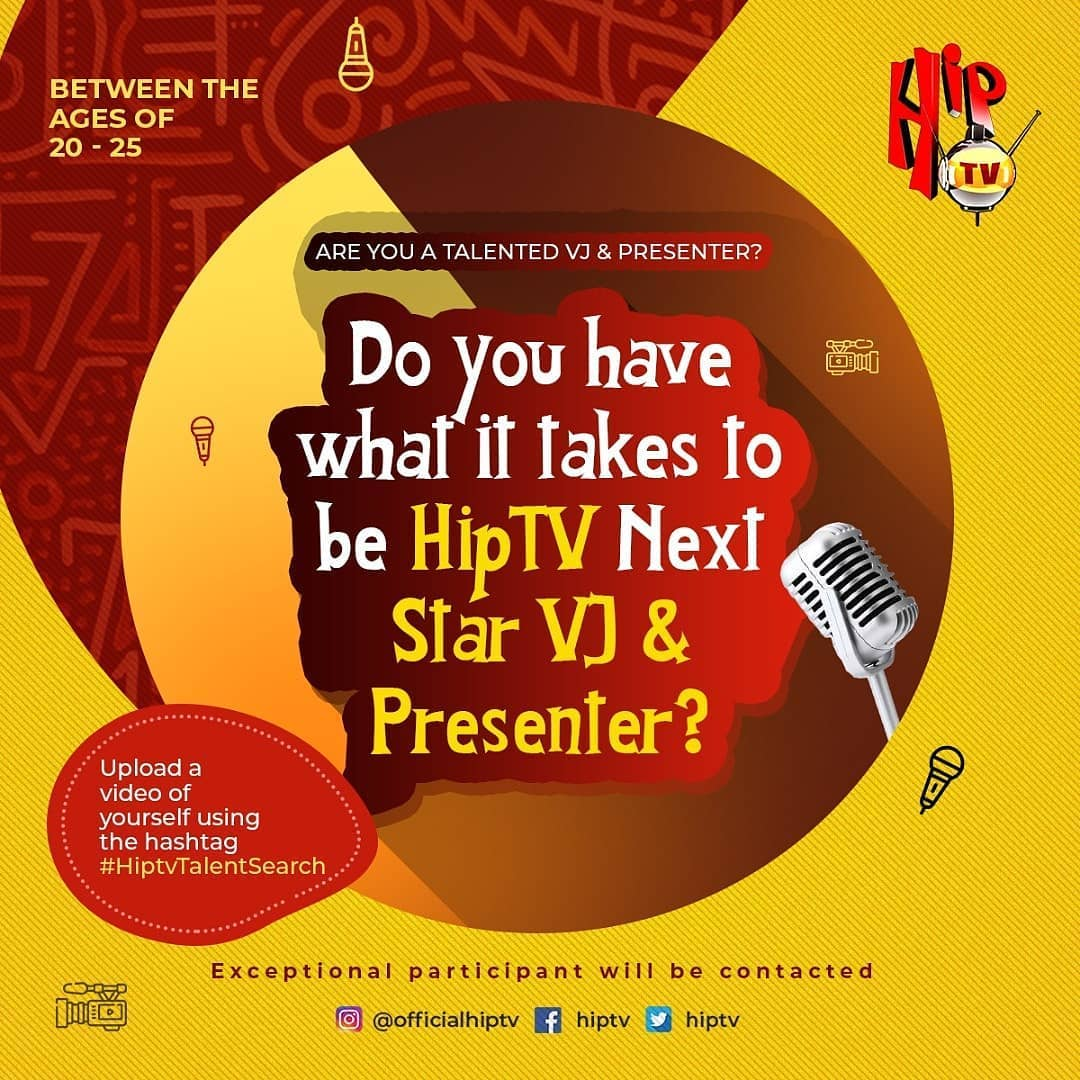 Do You Have What It Takes to Be the Next HipTV Star VJ and Presenter.
