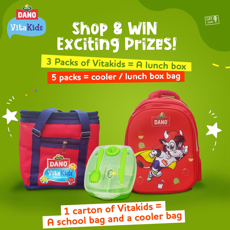 Win Prizes in Dano VitaKids Buy and Win Promo.