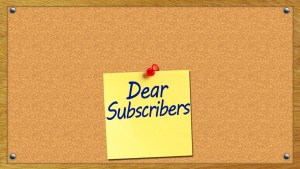 Dear Subscribers, You can Actually Choose if you want Emails IMMEDIATELY,  DAILY OR WEEKLY