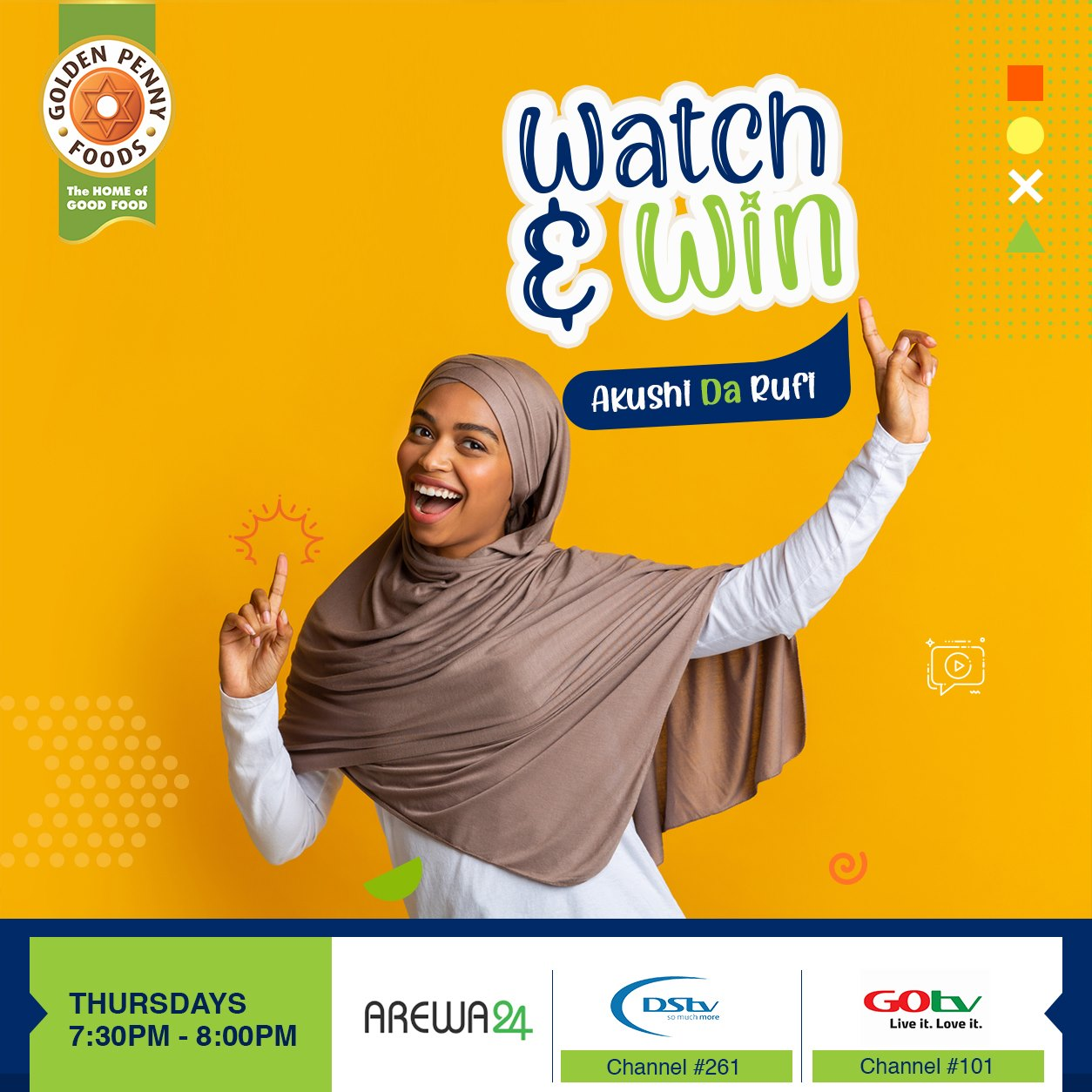 Watch and Win Prizes With Golden Penny Semovita.