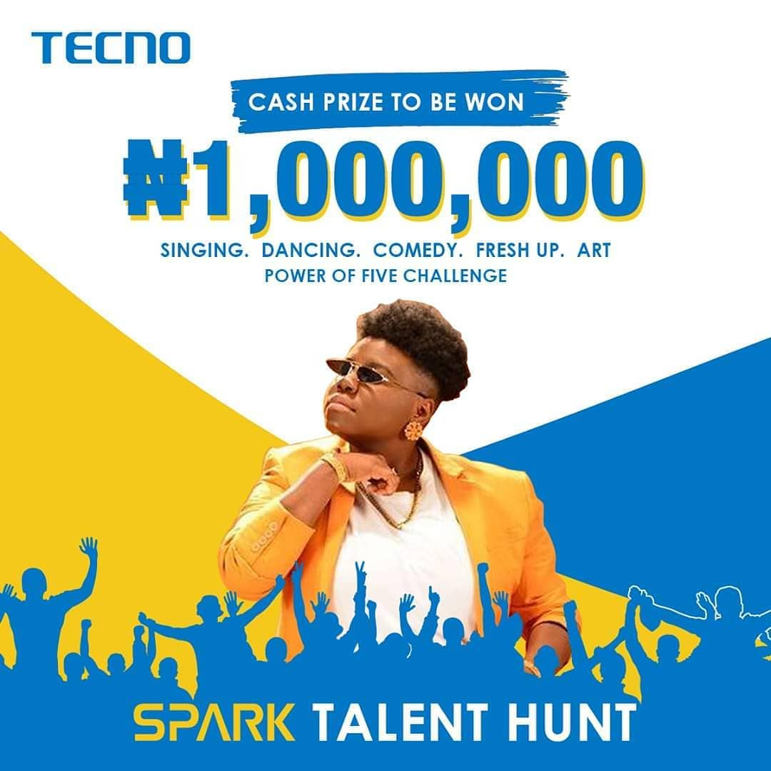 JOIN This Week Singing Challenge in the Tecno Spark Talent Hunt, to Win N200K.