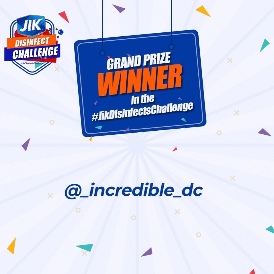 See The Winners of Jik Disinfects Challenge.