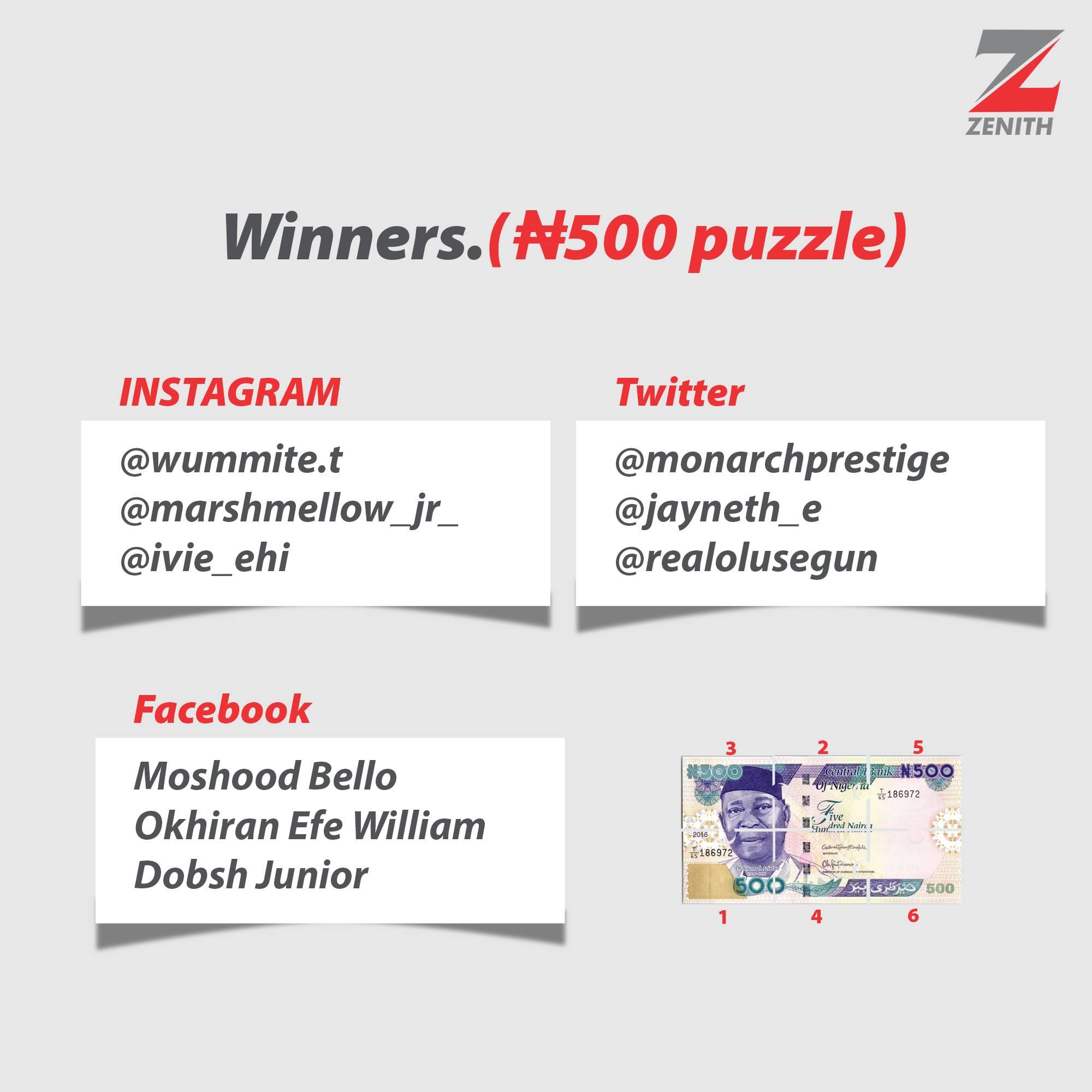 See The Winners of #ZenithDemocracyWeekTrivia.