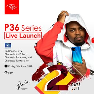10 Lucky People to Win itel P36 Smartphones in the Live Launch, Featuring Olamide.