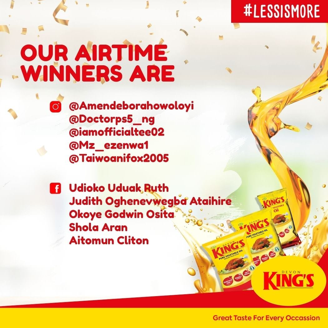 Airtime Winners of Devon Kings #LessIsMoreChallenge