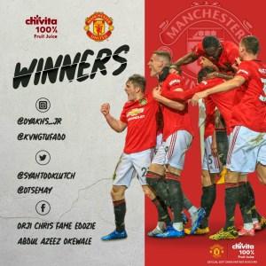 Winners of Chivita EPL Predict and Win