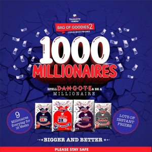 1000 Millionaires To Emerge in Dangote Group SPELL and Win Promo.
