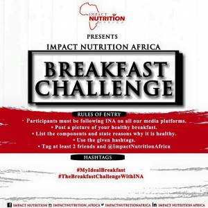 Join the Impact Nutrition Healthy Breakfast Challenge and Win Breakfast Voucher at A Luxury Restaurant.