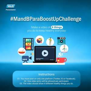 Win up to 10,000 airtime by participating in the #M&BParaBoostUpChallenge?