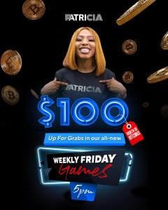 Join Patricia.com.ng Live on Instagram Today at 5pm For a chance to Win $100.