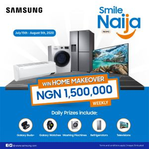 Win Home Makeover Worth N1.5Million in Samsung #SmileNaijaPromo.