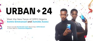 Winners Of Face Of Oppo Nigeria Contest – Jumoke Azeez and Emmanuel Somto.