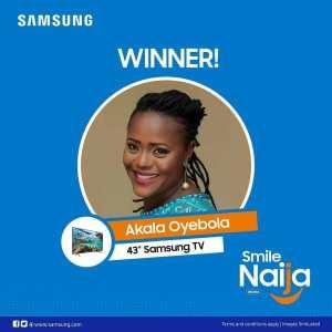 """See Some Winners of Samsung """"Smile Naija"""" Promo."""
