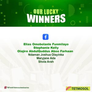 Winners of Tetmosol Watch and Win Giveaway.