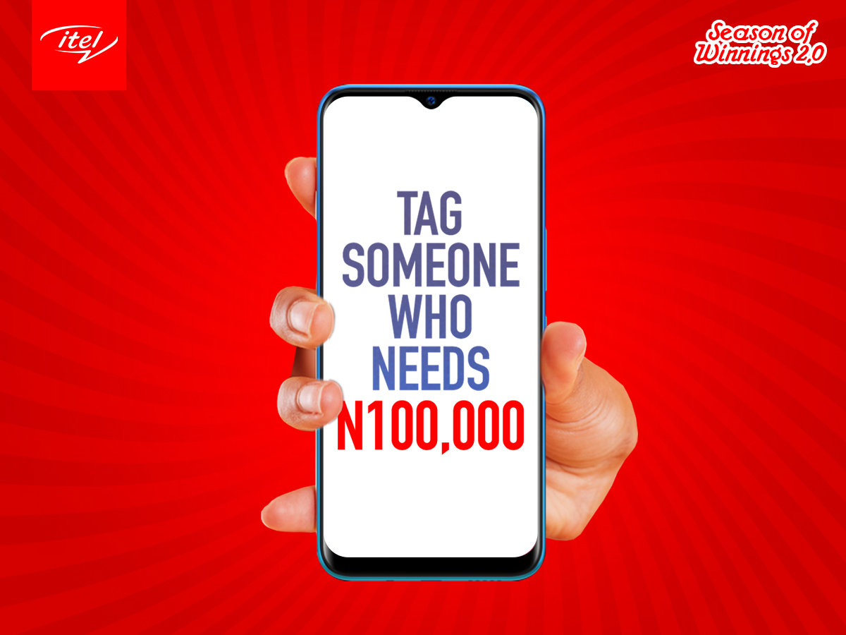 Win N100k in itel Mobile Giveaway.