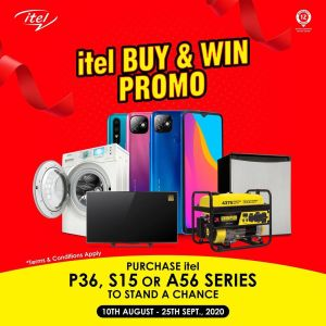 Win Loads of Prizes in itel BUY AND WIN PROMO.