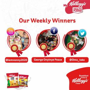 See the Weekly Winners of Kelloggs Health Pledge.
