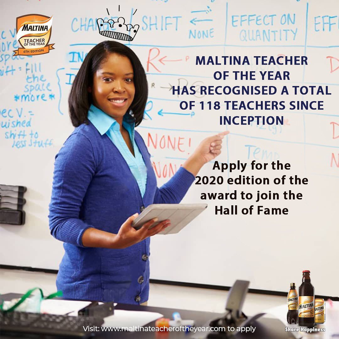 Win N1Million  in Maltina Teacher of The Year Awards.