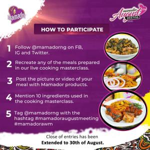 Stand a Chance to Win 6 Months Supply of Products in Mamador Giveaway.