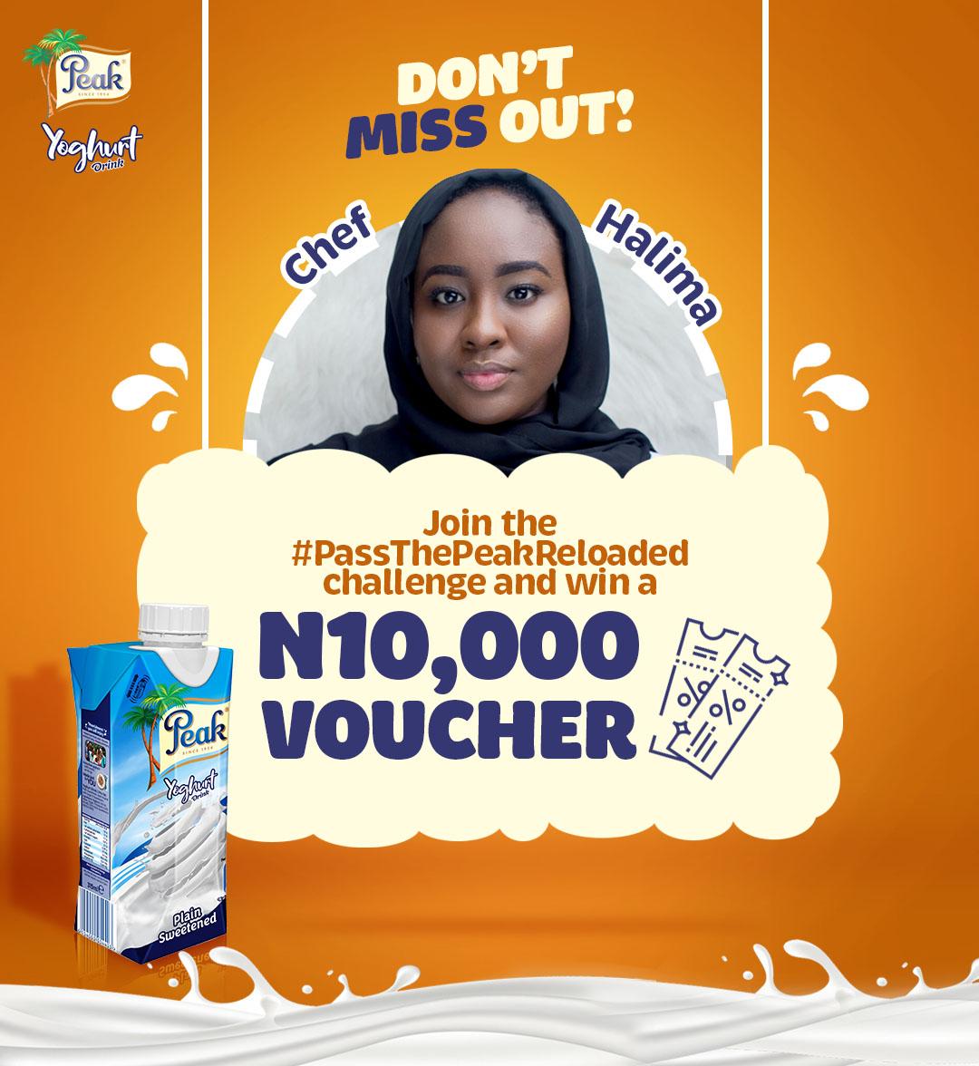 Win N10,000 in #PassThePeakReloaded Challenge, By Peak Yogurt.