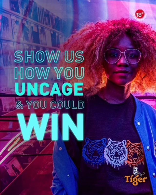 UNCAGE AND WIN with Tiger Beer Nigeria.