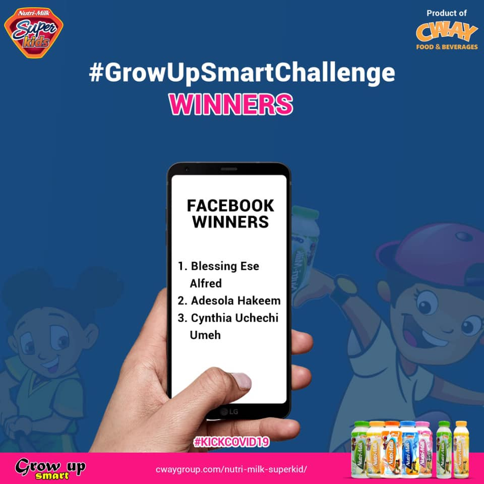 Winners of NutriMilkSuperKids #GrowUpSmartChallenge Announced.