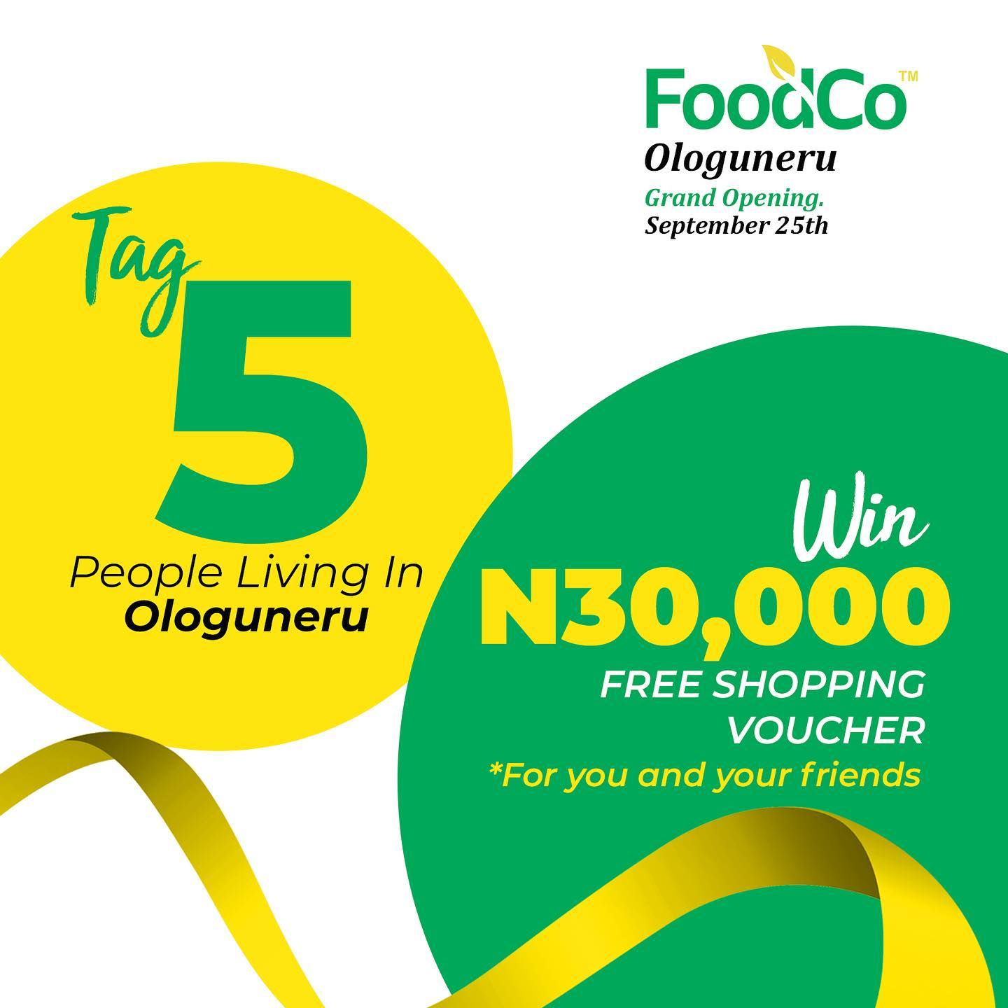 Join the FoodCo N30K Voucher Giveaway.