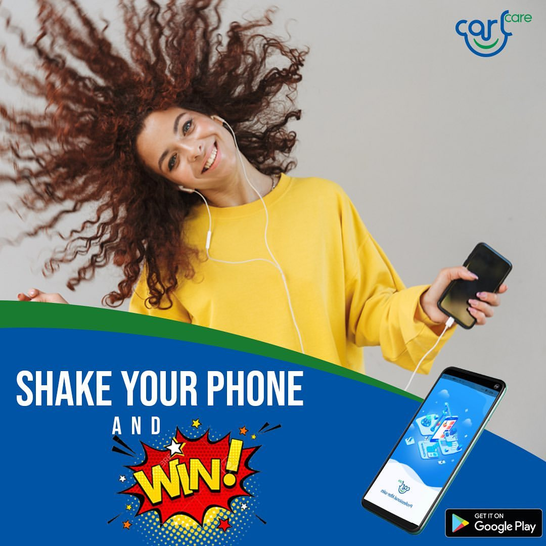 Shake Your Phone and Win Prizes in CarlCare Service Giveaway.