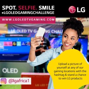 Spot, Take Selfie, Smile in #LGOLEDGAMINGCHALLENGE To Win LG Products.