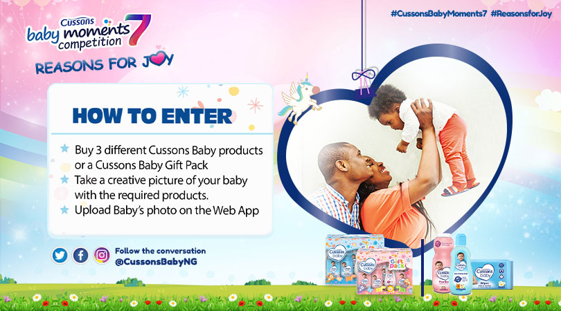Win N2Millions in Cussons Baby Moments Season 7. Registration is on!!!
